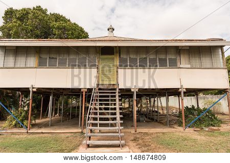Old Queenslander style high set house being renovated