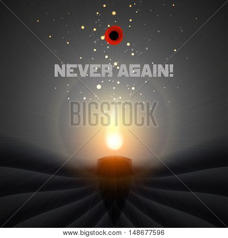 Vector background with candle - Memorial Day