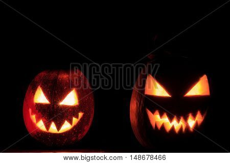 terrible two pumpkin faces, holiday, October 31, Halloween