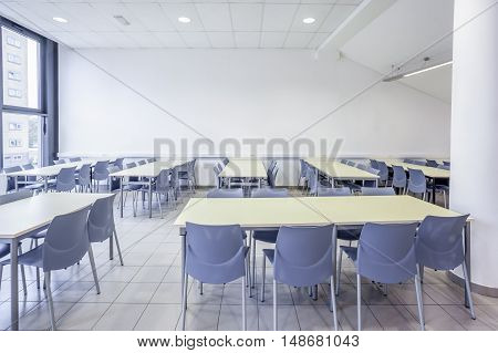 an large dining room in a large building