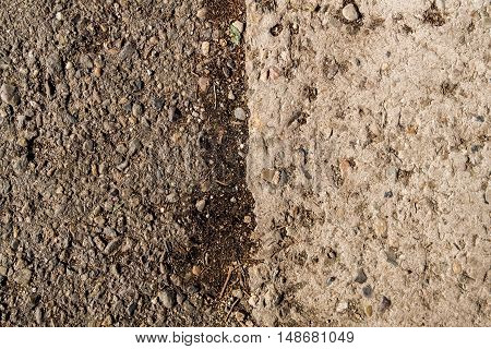 Asphalt, asphalt texture, real asphalt texture background, scabrous asphalt background, seamless asphalt background, closeup, concrete and asphalt