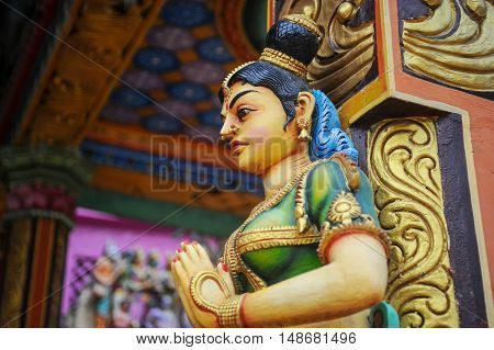 4.3.2015 negombo, Sri-Lanka. Statues of hindu gods