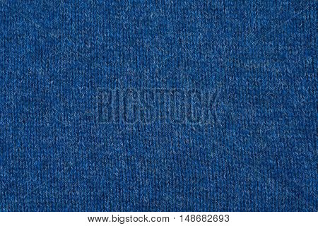 Part of blue knitted sweater as a seamless background