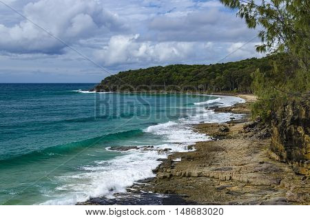 Rocky beach in the Noosa National Park.