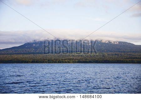 Morning on the lake Zyuratkul. Ural. Russia