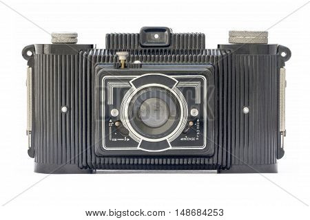Isolated vintage camera from the fifties era