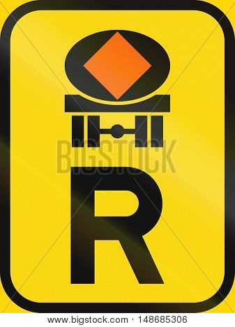 Temporary Road Sign Used In The African Country Of Botswana - Reservation For Vehicles Transporting