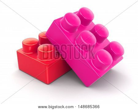 3D Illustration. Constructor. Image with clipping path