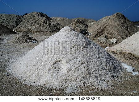 Salt mining in Rose Lake Dakar Senegal