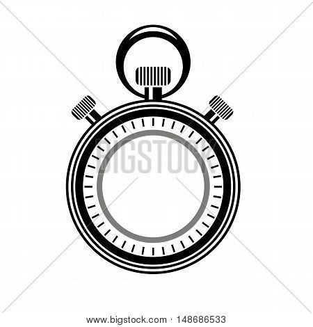 Second Timer Icon Isolated on White Background. Watch Logo
