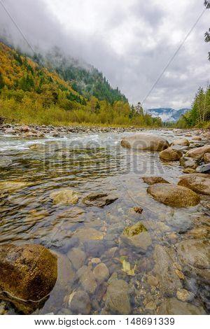 Majestic mountain river in Canada.