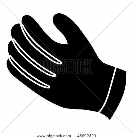 Winter gloves icon in simple style on a white background vector illustration