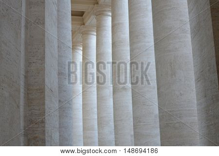 The row of grey marble columns background