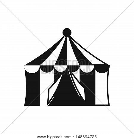 Circus tent icon in simple style on a white background vector illustration