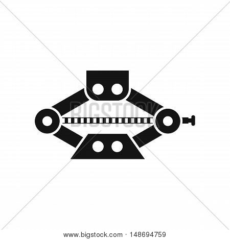 scissor car jack icon in simple style on a white background vector illustration