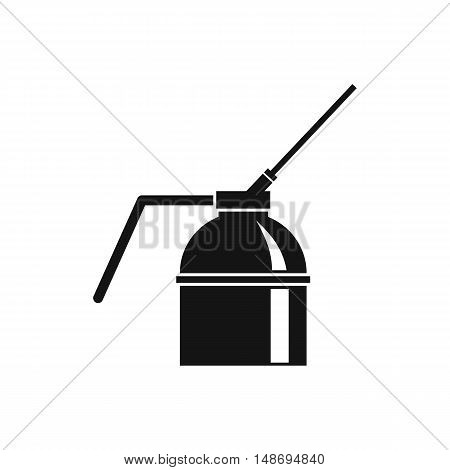 Can of spray paint icon in simple style on a white background vector illustration