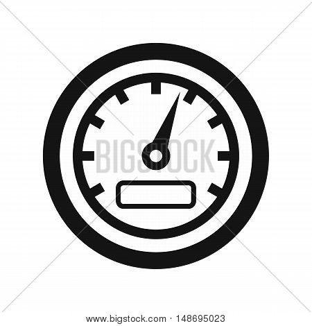 Speedometer icon in simple style on a white background vector illustration