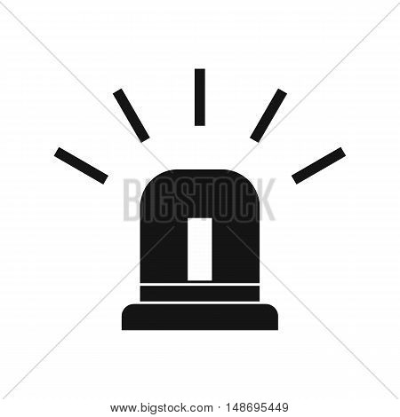 Blue special police flasher icon in simple style on a white background vector illustration