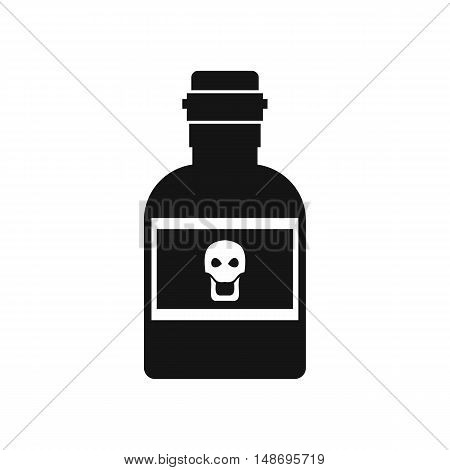 Poison bottle icon in simple style on a white background vector illustration