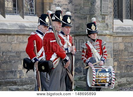 Lichfield Staffordshire England September 18 2016 Coldstream Guards