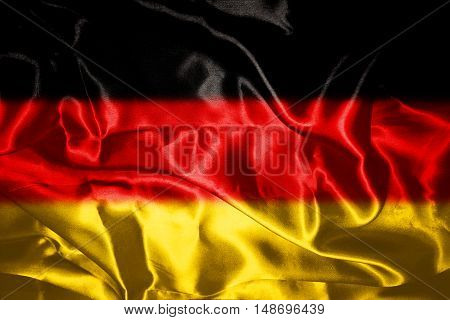 German flag All Ruffled Blowing in Wind
