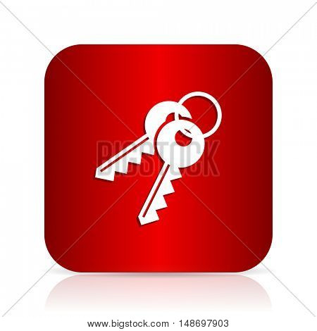 keys red square modern design icon