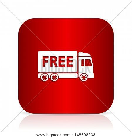 free delivery red square modern design icon