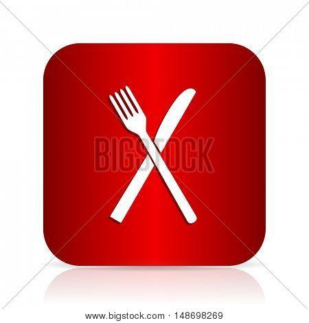 restaurant red square modern design icon