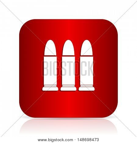 ammunition red square modern design icon