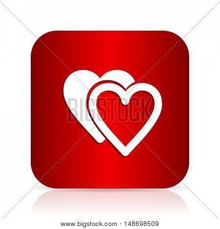 love red square modern design icon