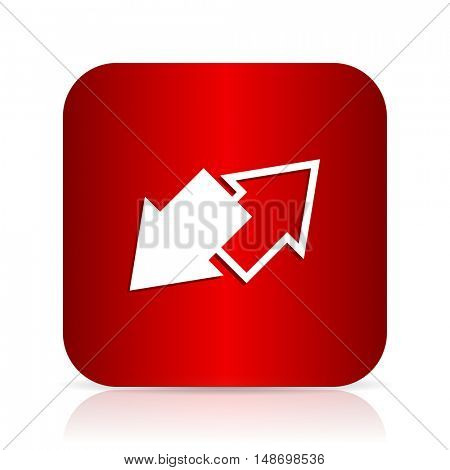 exchange red square modern design icon