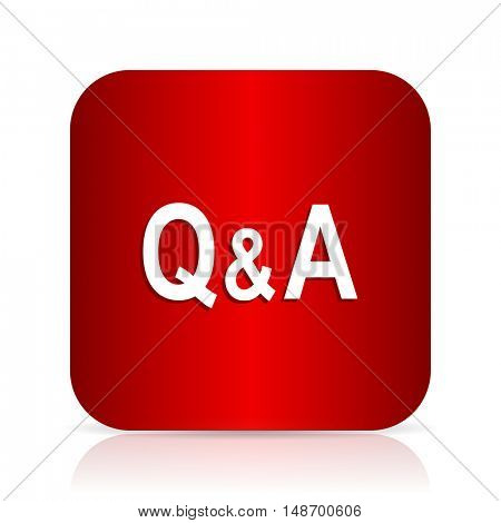question answer red square modern design icon