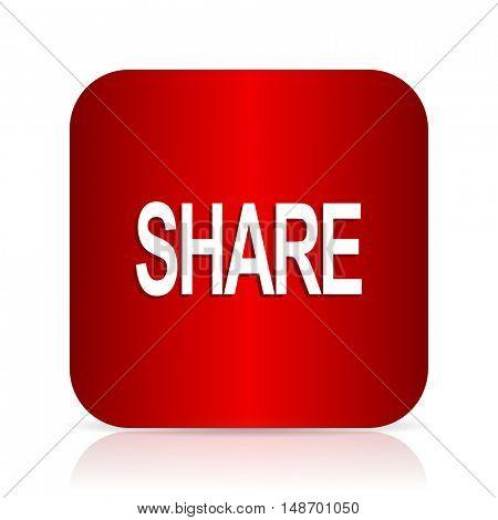 share red square modern design icon