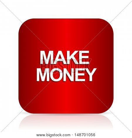 make money red square modern design icon