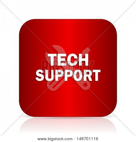technical support red square modern design icon