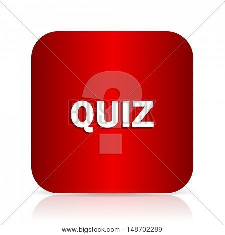 quiz red square modern design icon