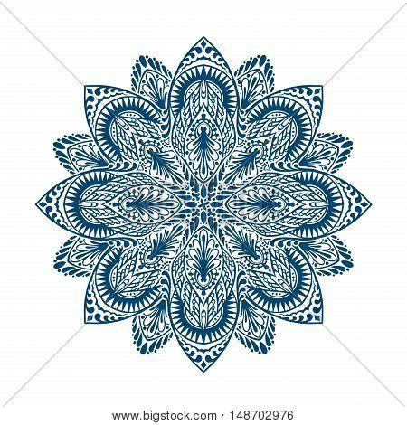 Mandala. Decorative ethnic floral ornament. Vector illustration isolated