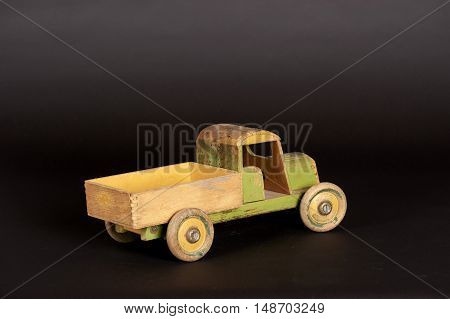 German hand-made wooden toy truck from early 1900's