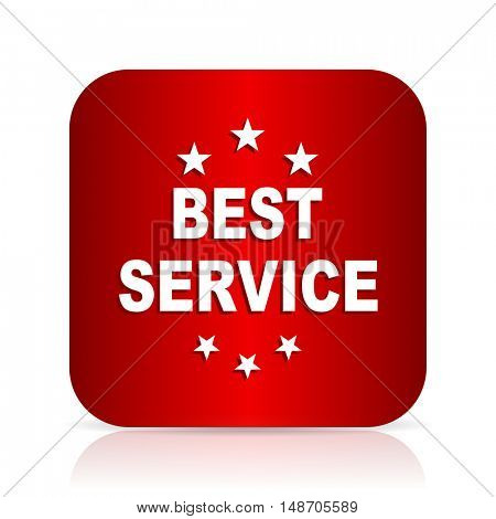 best service red square modern design icon
