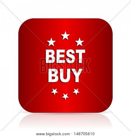 best buy red square modern design icon
