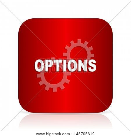 options red square modern design icon
