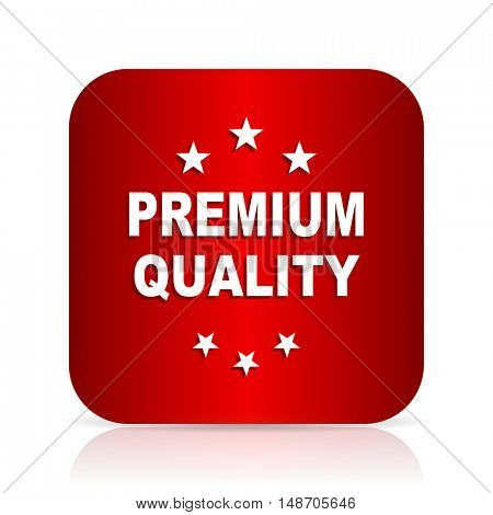 premium quality red square modern design icon