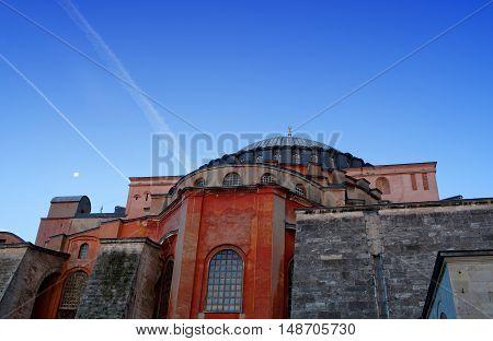 Hagia Sophia (ayasofya) Temple In Istanbul, Turkey