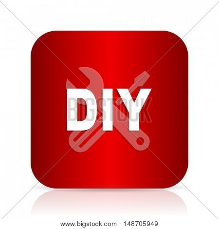 diy red square modern design icon
