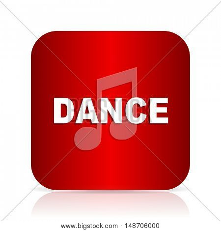 dance music red square modern design icon