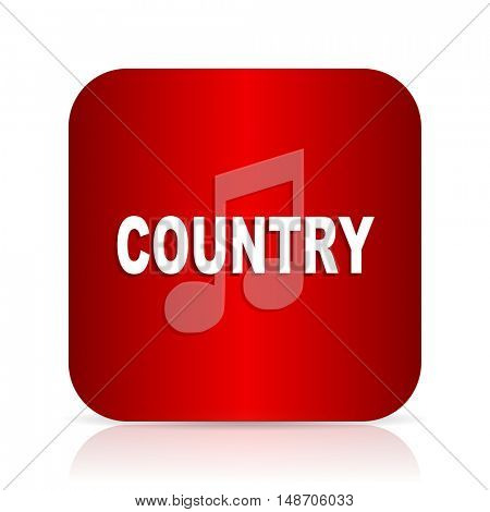 music country red square modern design icon