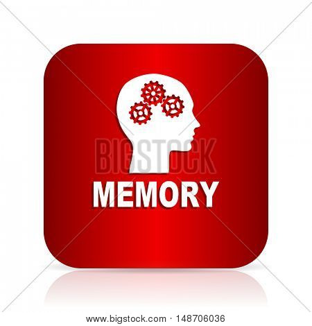 memory red square modern design icon