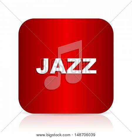jazz music red square modern design icon