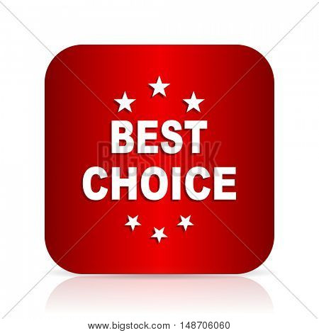 best choice red square modern design icon