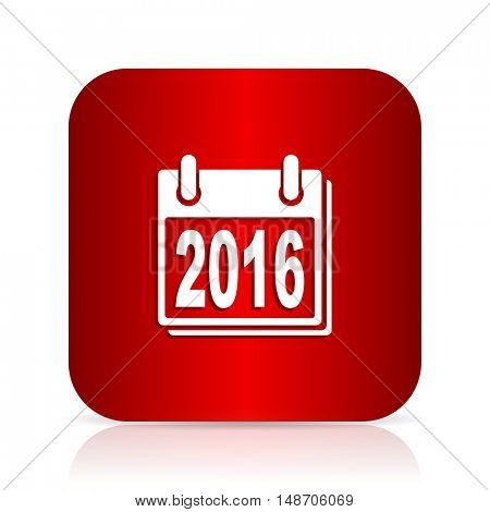 new year 2016 red square modern design icon
